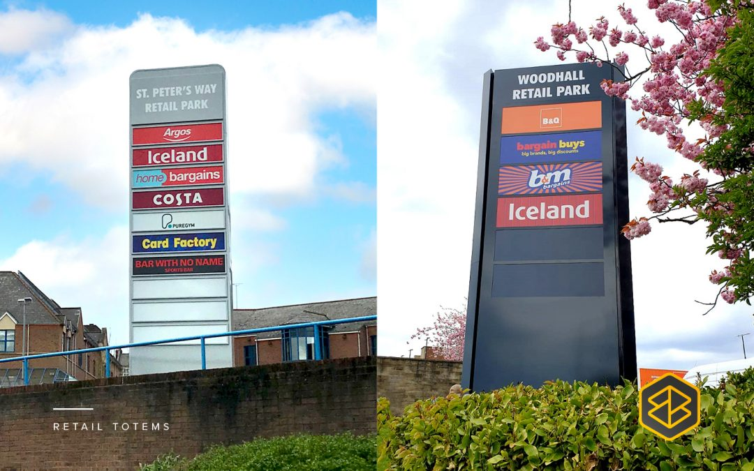 Totem retail signage can help make a powerful brand statement